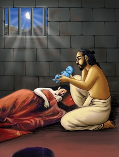 Krishna's birth in prison