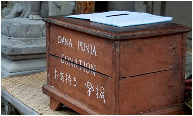Donation box in Indonesia