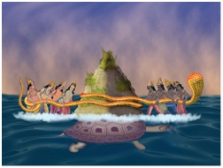 samudra manthan coloring pages - photo#15