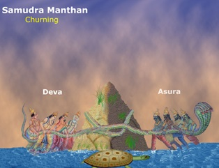 samudra manthan coloring pages - photo#6