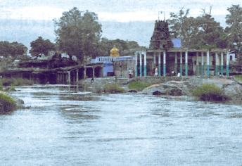 kurukkuthurai murugan temple on Thamirabarani river